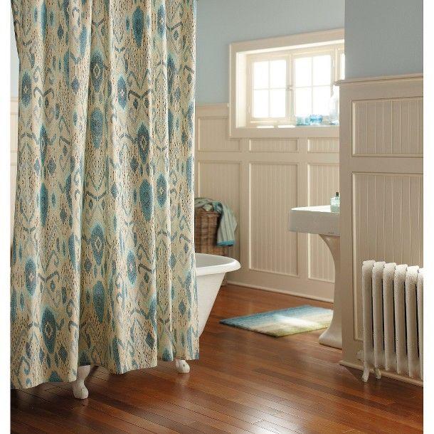 Threshold™ Ikat Mix Shower Curtain