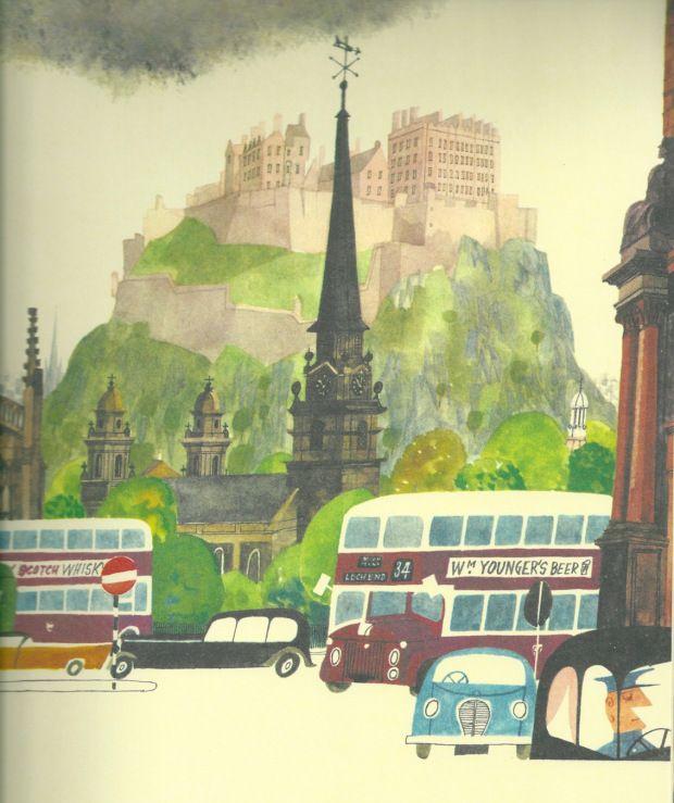 Posts About Miroslav Sasek On The Taft Hotel Book Illustration Design Retro Illustration Edinburgh Castle