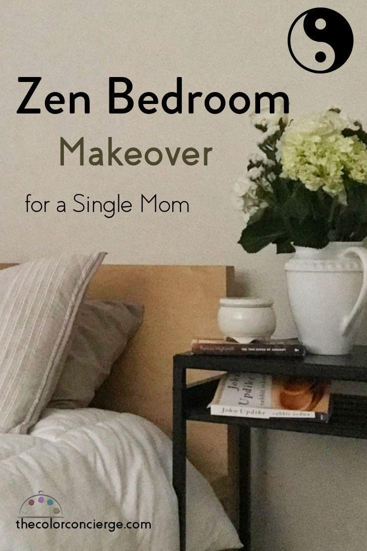 This Zen bedroom has a white foundation color palette with ...