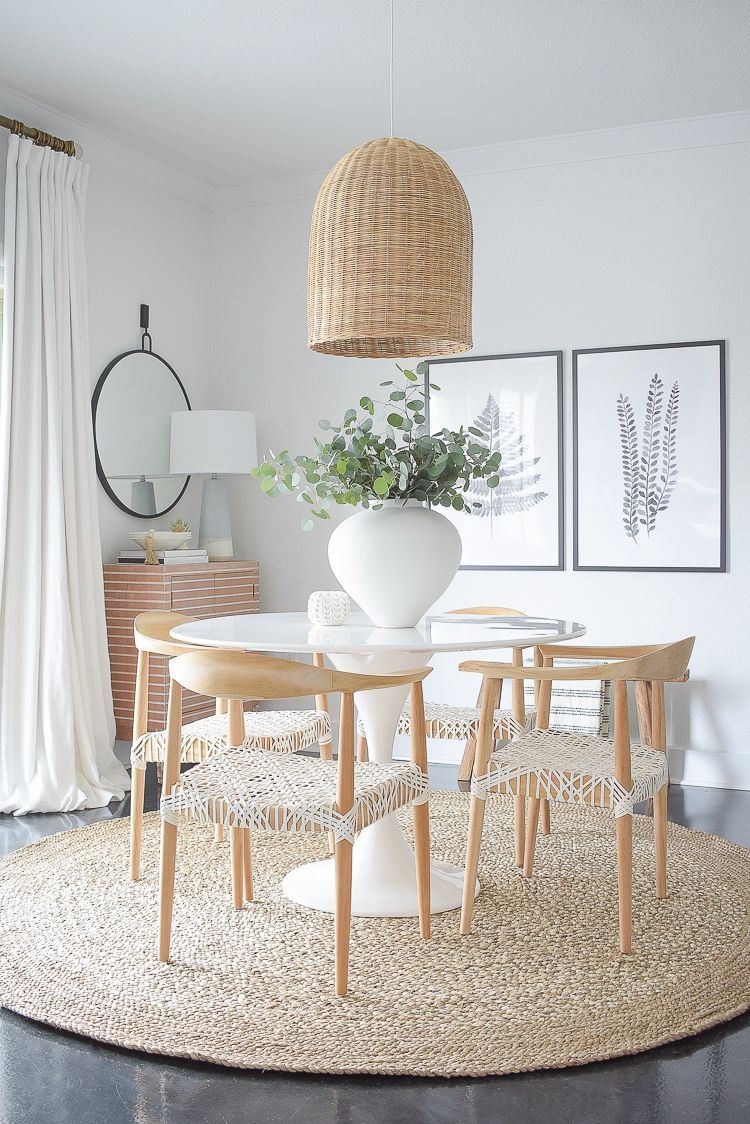 Photo of Casual, Chic Dining Room Reveal | ZDesign At Home