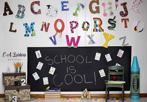 Kate Back To School Cool Backdrop For Children Photography
