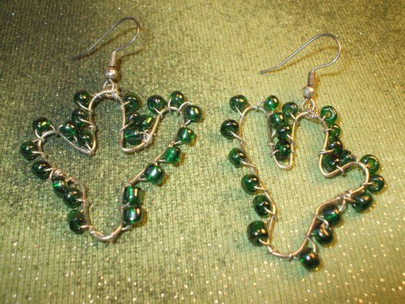 Cactus earrings by Adaya on Etsy