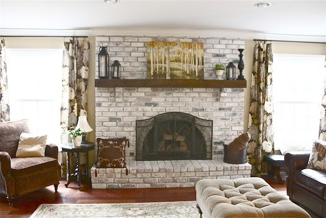 Camini In Mattoni Rossi : White wash your fireplace i m doing this have red brick that