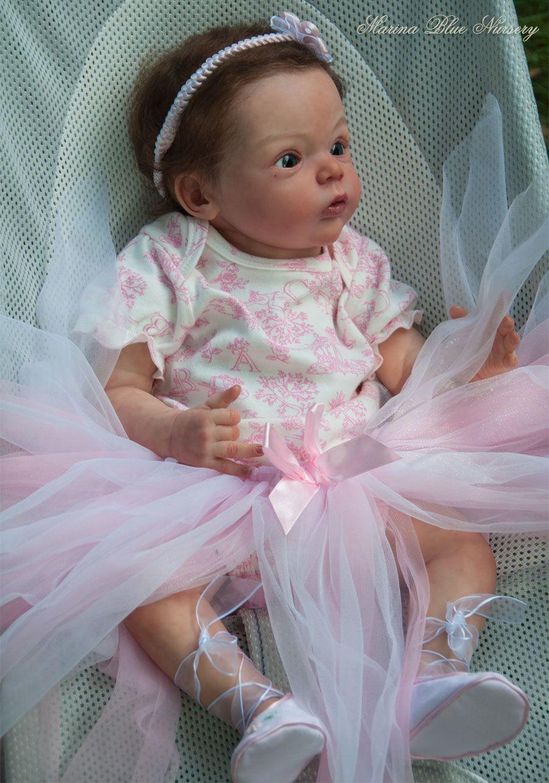 REBORN LIVIA BY GUDRUN LEGLER ♥ BABY GIRL ALEXA♥ MARINA BLUE NURSERY♥SOLD OUT   -----Marina Blue Nursery