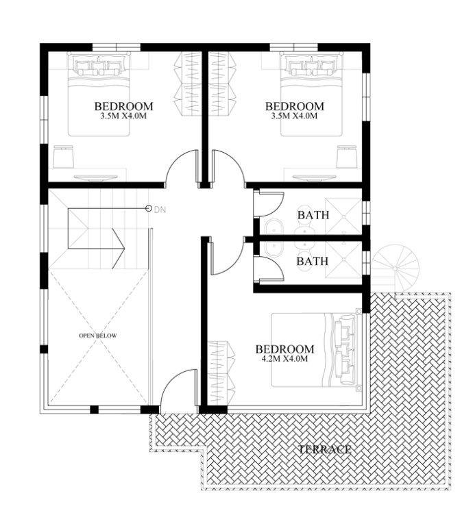 Modern House Designs Series Mhd 2014010 Pinoy Eplans Garage House Plans Square House Plans Duplex House Design
