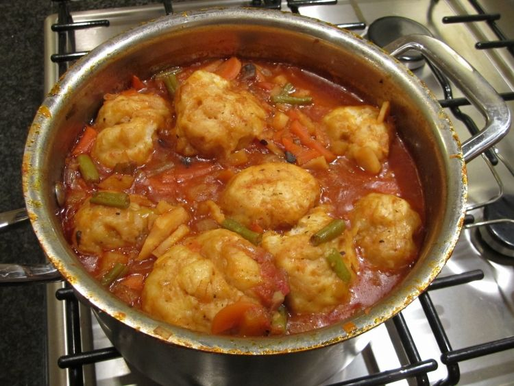 My favourite winter food yum pinterest food vegetable stew the dumplings are cooked when they rise back to the surface forumfinder Gallery