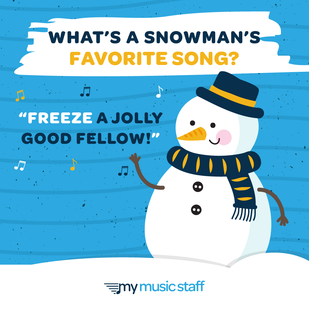 It S Snow Secret That We Like Music Puns And This One Is