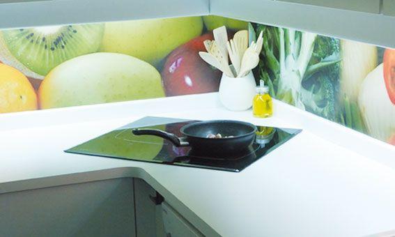Impresión en cristal frente cocinas