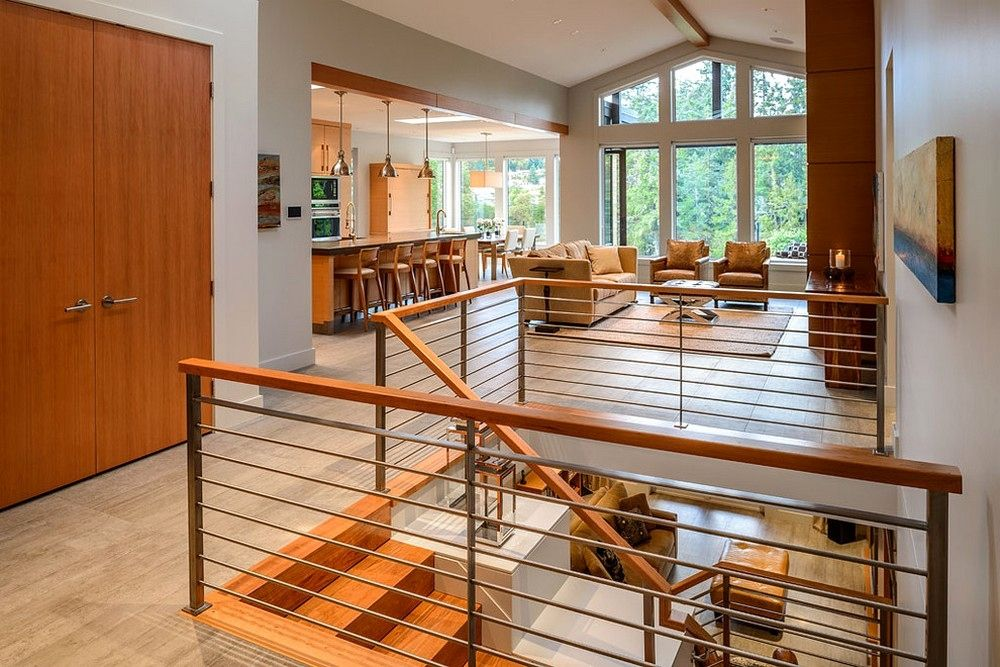 Open Floor Plan With Staircase In Middle Google Search Open Basement Stairs Open Basement Basement Stairs