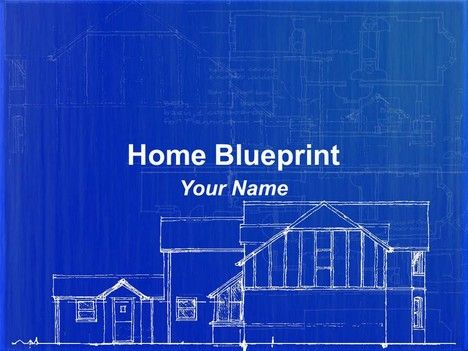 Blueprint design of a house in powerpoint communication connection blueprint design of a house in powerpoint communication connection malvernweather Images