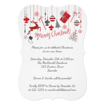 Xmas gift opening invitation