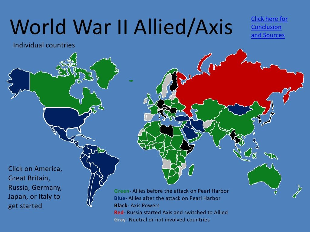 WWII Powers | Map activities, World history lessons, Axis powers