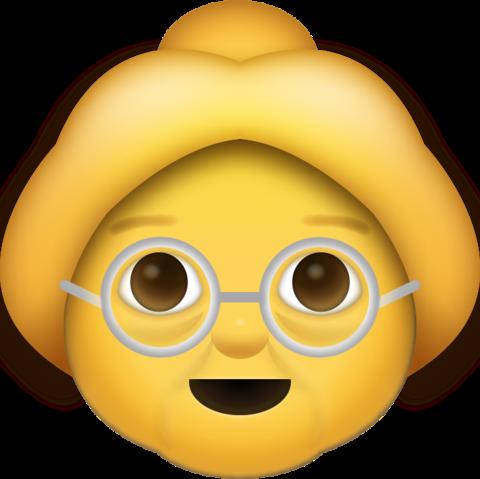 Grandma Emoji [Free Download iPhone Emojis] | Iphone Emoji