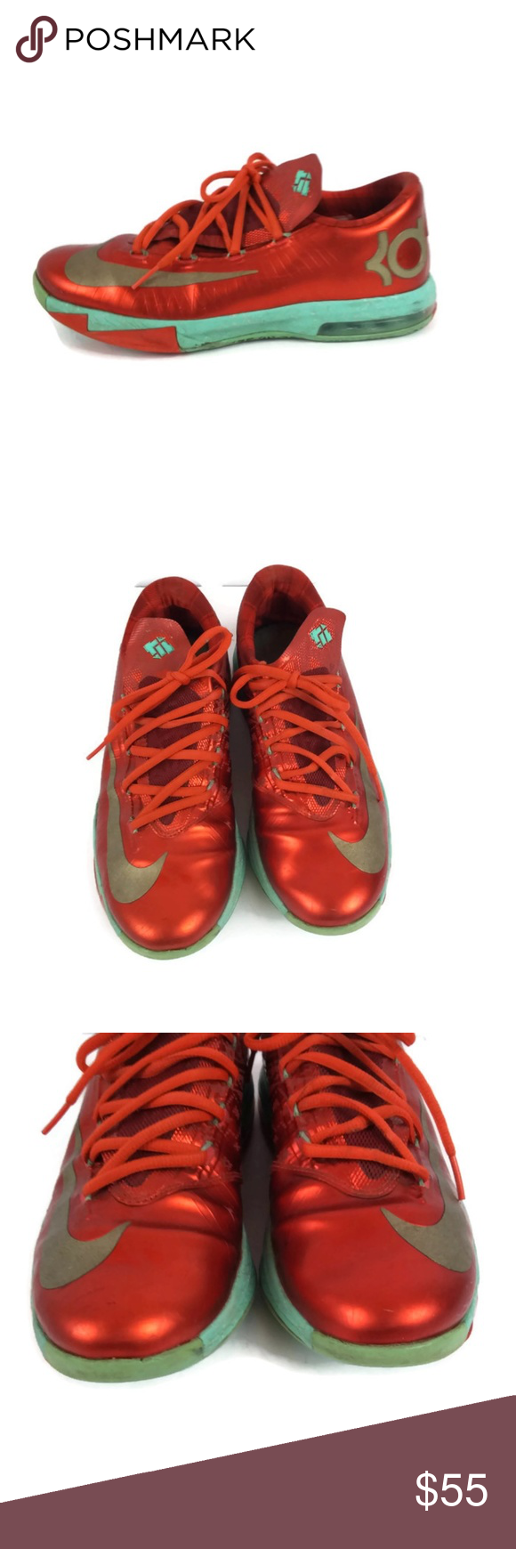 cheap for discount 2fcd9 d951f NIKE KD VI Flash Lime Atomic Red Shoes YOUTH Sport NIKE Kevin Durant KD VI  Flash