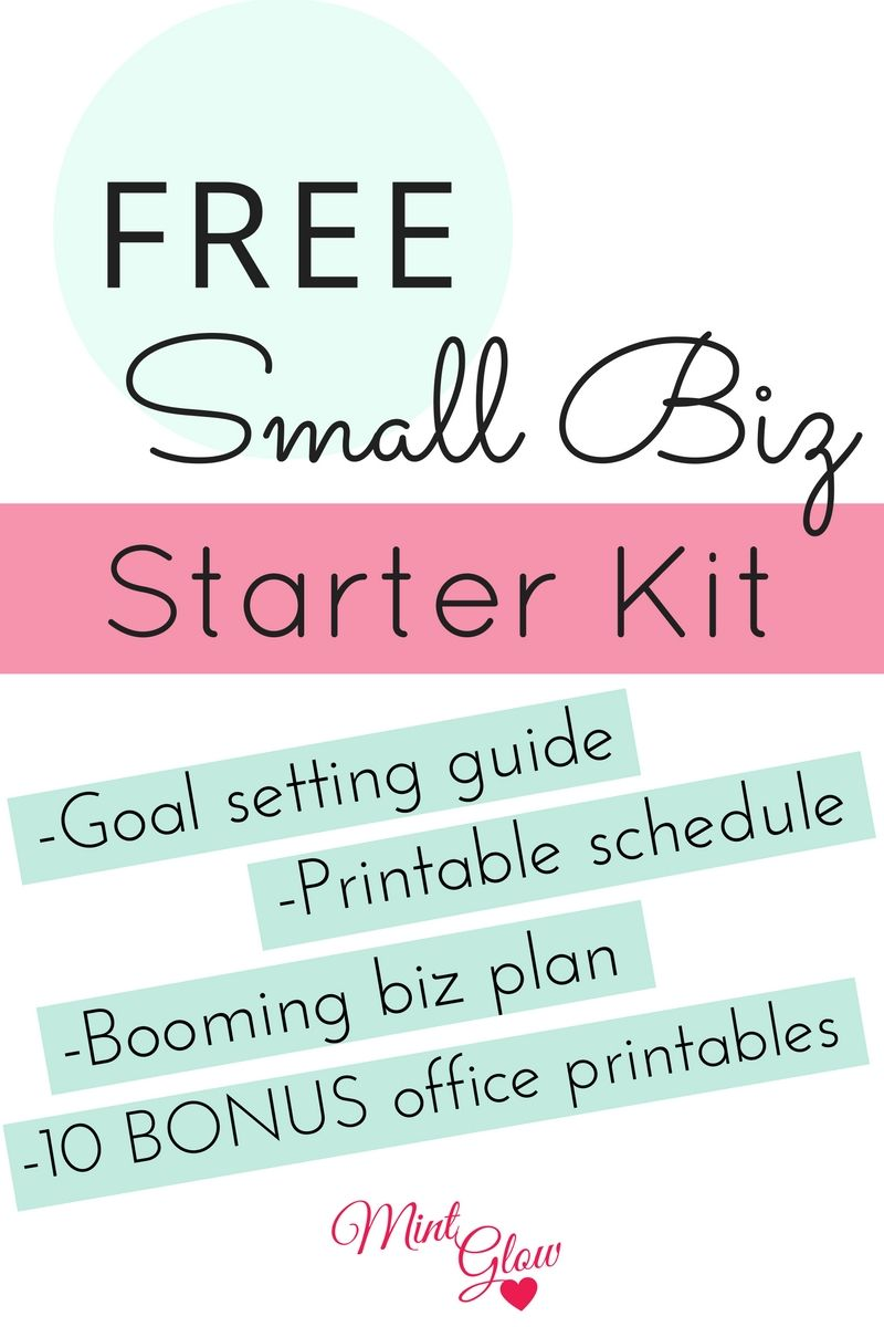 Free Small Biz Starter Kit Includes Planners Goal Setting Guide
