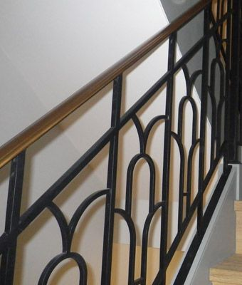Image result for 1930s iron railing | Wrought iron stair ...