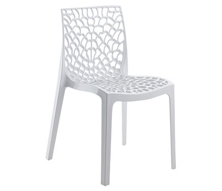 Silla de resina gruyer blanco leroy merlin 30 for Sillas de resina carrefour
