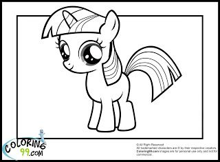 My Little Pony Twilight Sparkle Coloring Pages Coloring99 Com Tegning Mlp