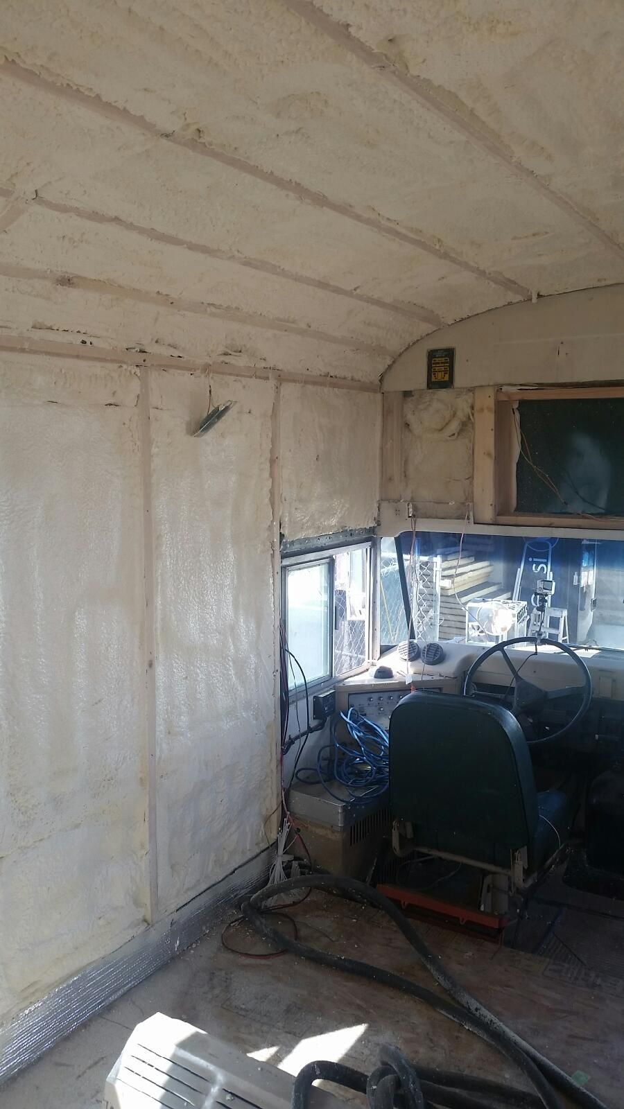 Spray foam insulation bus conversion denver colorado charles spray foam insulation bus conversion denver colorado charles kern skoolie solutioingenieria Image collections