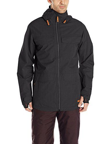 23713f2339 Oakley Mens Thunder GoreTex Bio Zone Shell Jacket Jet Black Medium    See  this great product. (This is an affiliate link)
