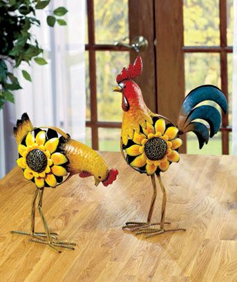 Metal Chicken Or Rooster Statues, No Puerto Rican Kitchen Is Complete  Without One ;)