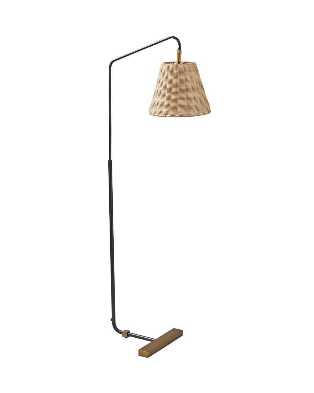 Serena & Lily Flynn Floor Lamp Wicker floor lamp, Floor