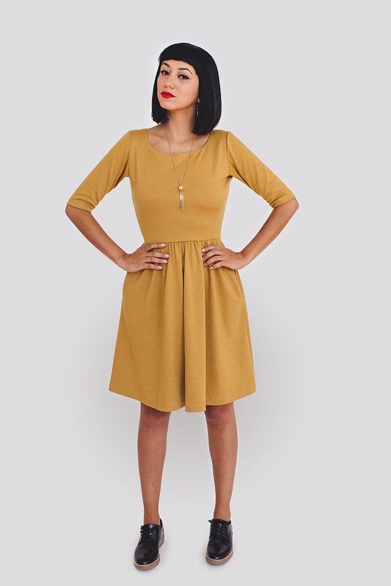 Moneta - long, short & sleeveless versions and optional collar ...