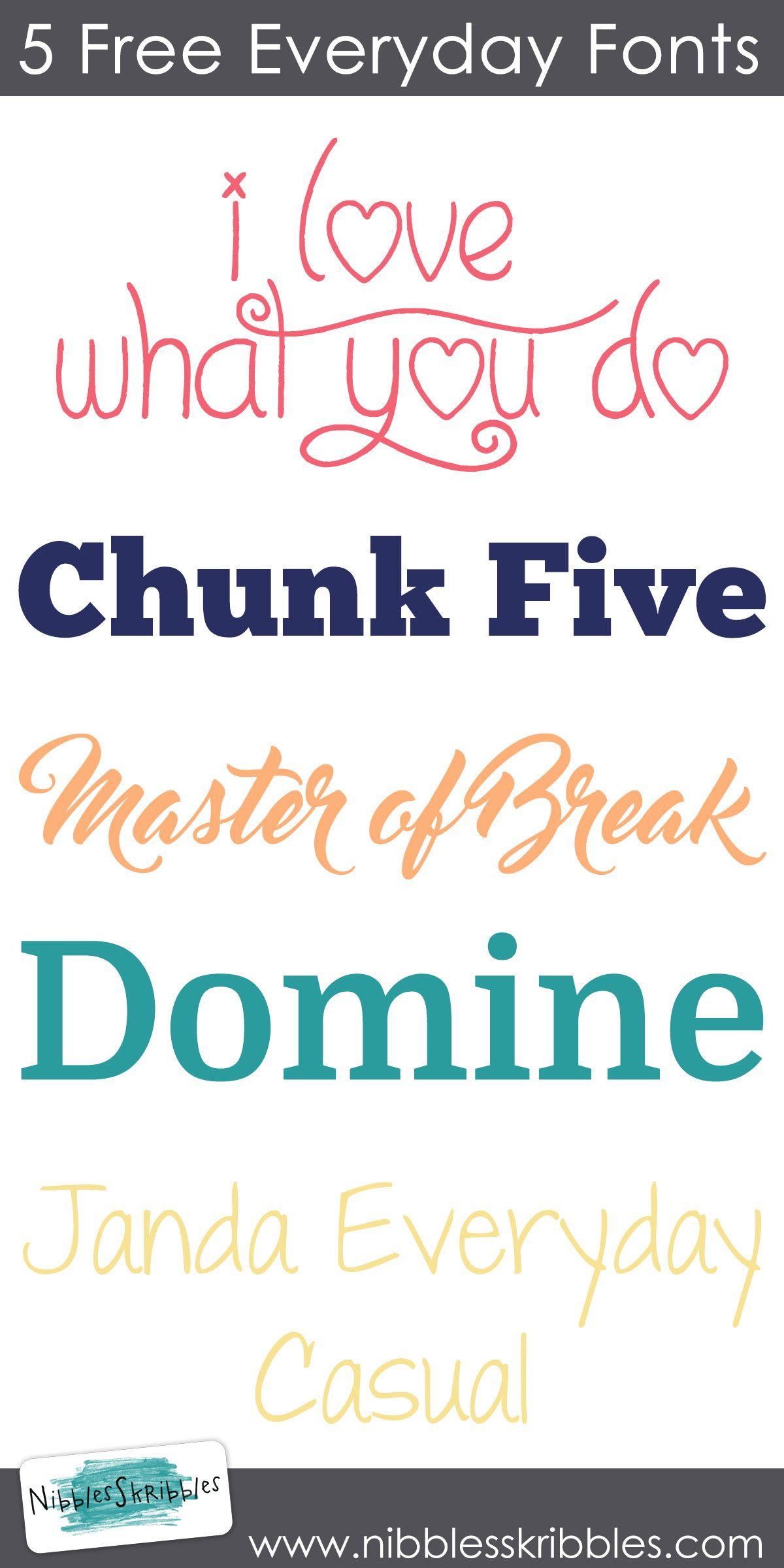 5 Free Everyday Fonts Nibbles Skribbles Happy New Year Friends Free Digital Scrapbooking