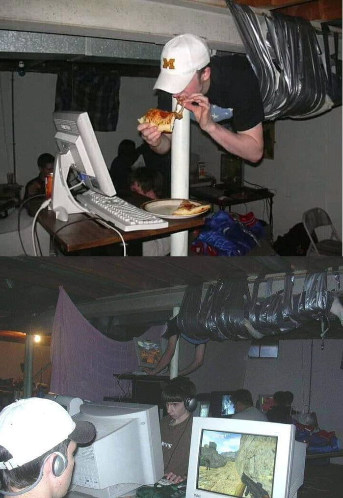 Gaming Setup Ideas That Legendary Lan-party, From Two Different Angles