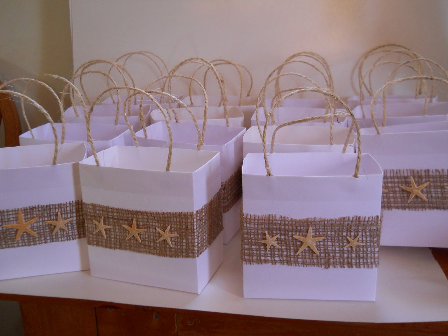 Beach Wedding Gift Bags: Elegant Bridal Party Favor Bags Or For Your Beach Wedding
