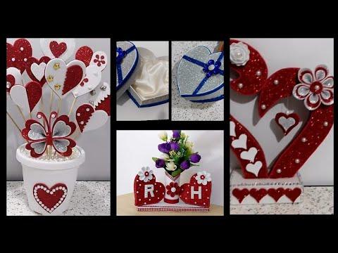 أفكار لعمل هدايا بمناسبة عيد الحب افكار للديكور في عيد الحب Diy Valentine S Idee Per San Valentino Youtube Valentines Diy Craft Stick Crafts Crafts
