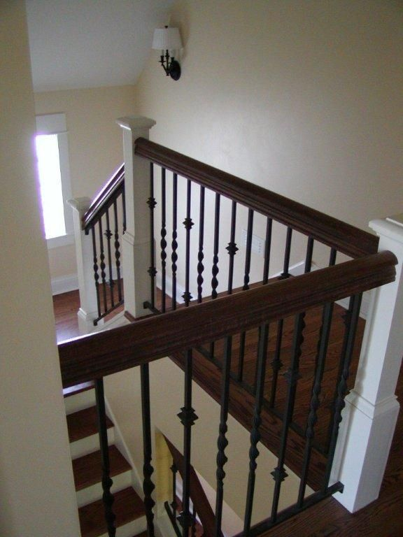 Custom interior iron railing interior iron railings - Interior stair railing contractors ...