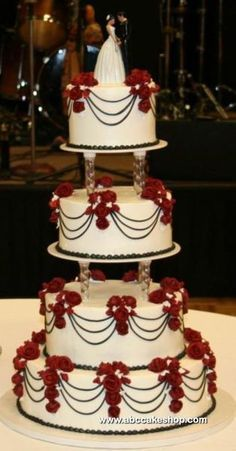 red white and black wedding cakes - Google Search | Wedding ...