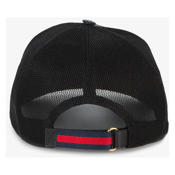 fb268b12129 Gucci GG Supreme Angry Cat baseball hat (1.240 RON) ❤ liked on Polyvore  featuring accessories