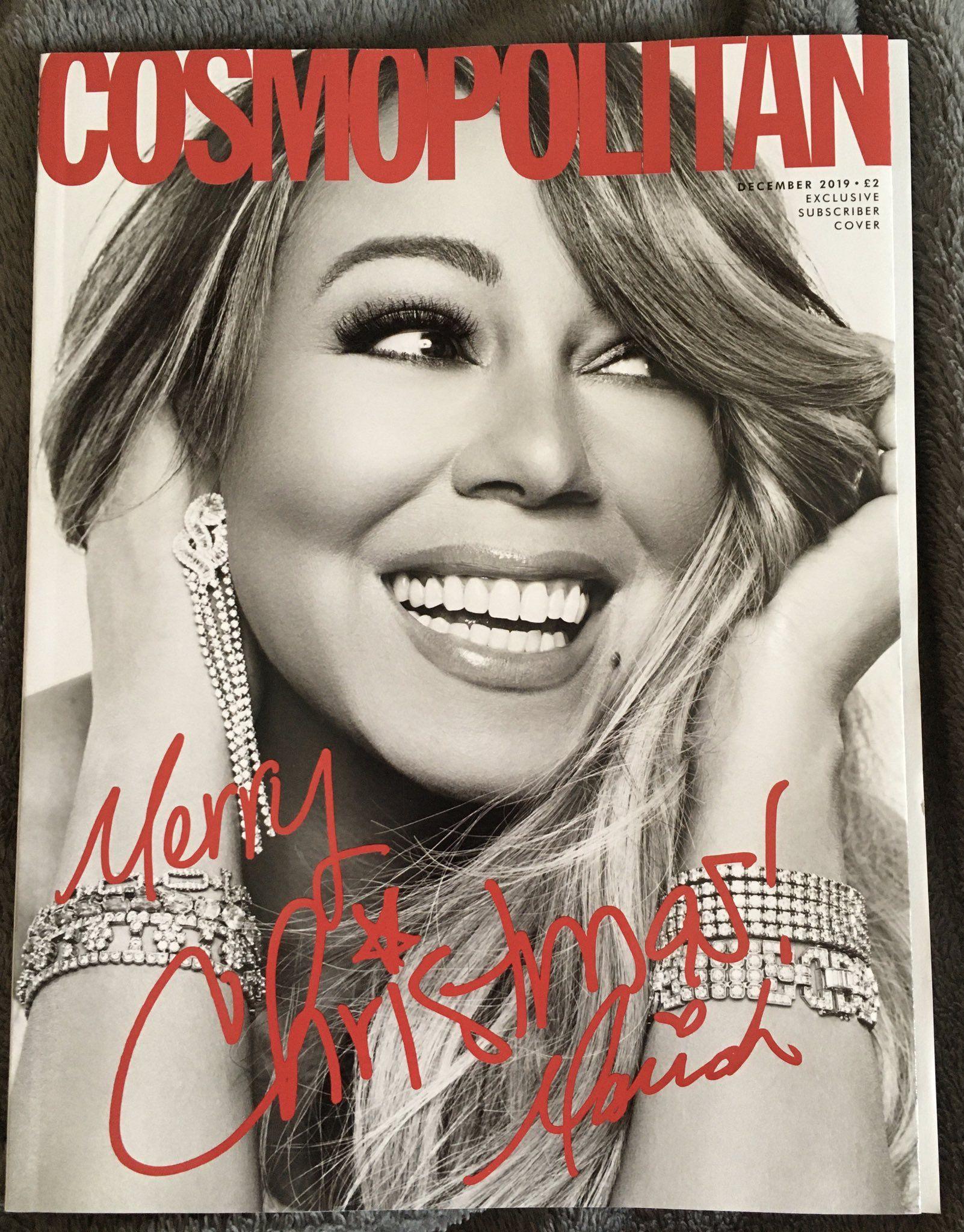 Special Mariah Carey cover Cosmopolitan Magazine December