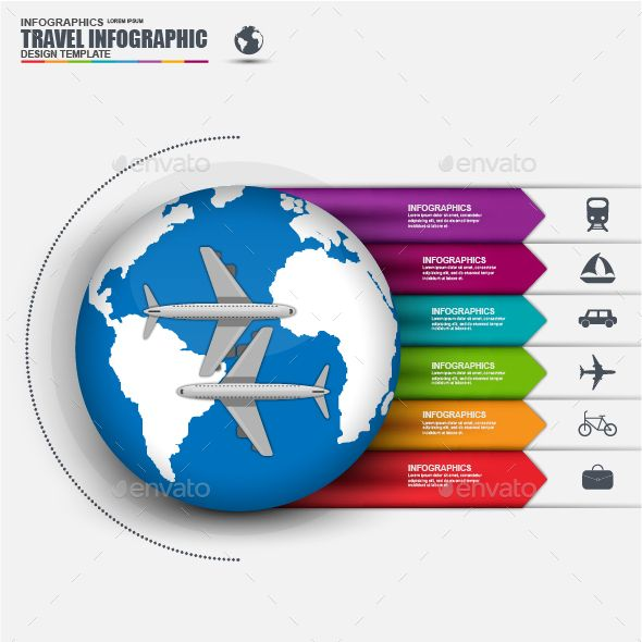 World Travel Business Infographic — Photoshop PSD #airline #icon • Available here → https://graphicriver.net/item/world-travel-business-infographic/14183393?ref=pxcr