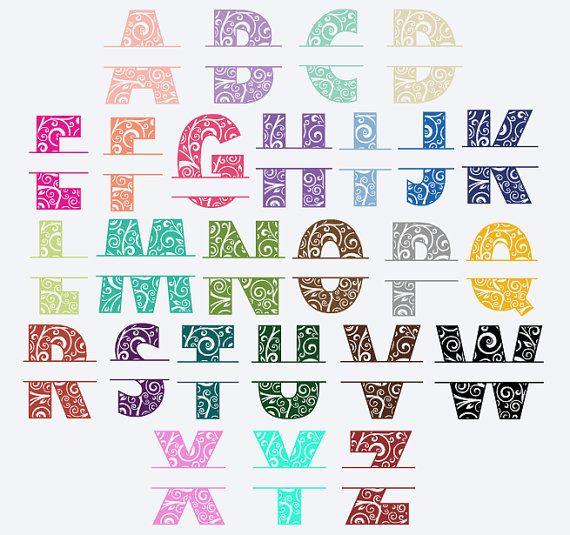 Monogram car decal vinyl name yeti decal sticker personalized decal split alphabet