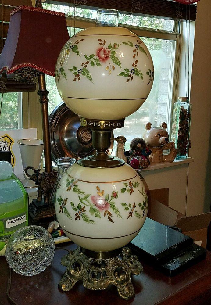Antique Glass Floor Lamp