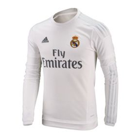 separation shoes 73474 abbbc adidas Real Madrid Long Sleeve Soccer Jersey (Home 2015/16 ...
