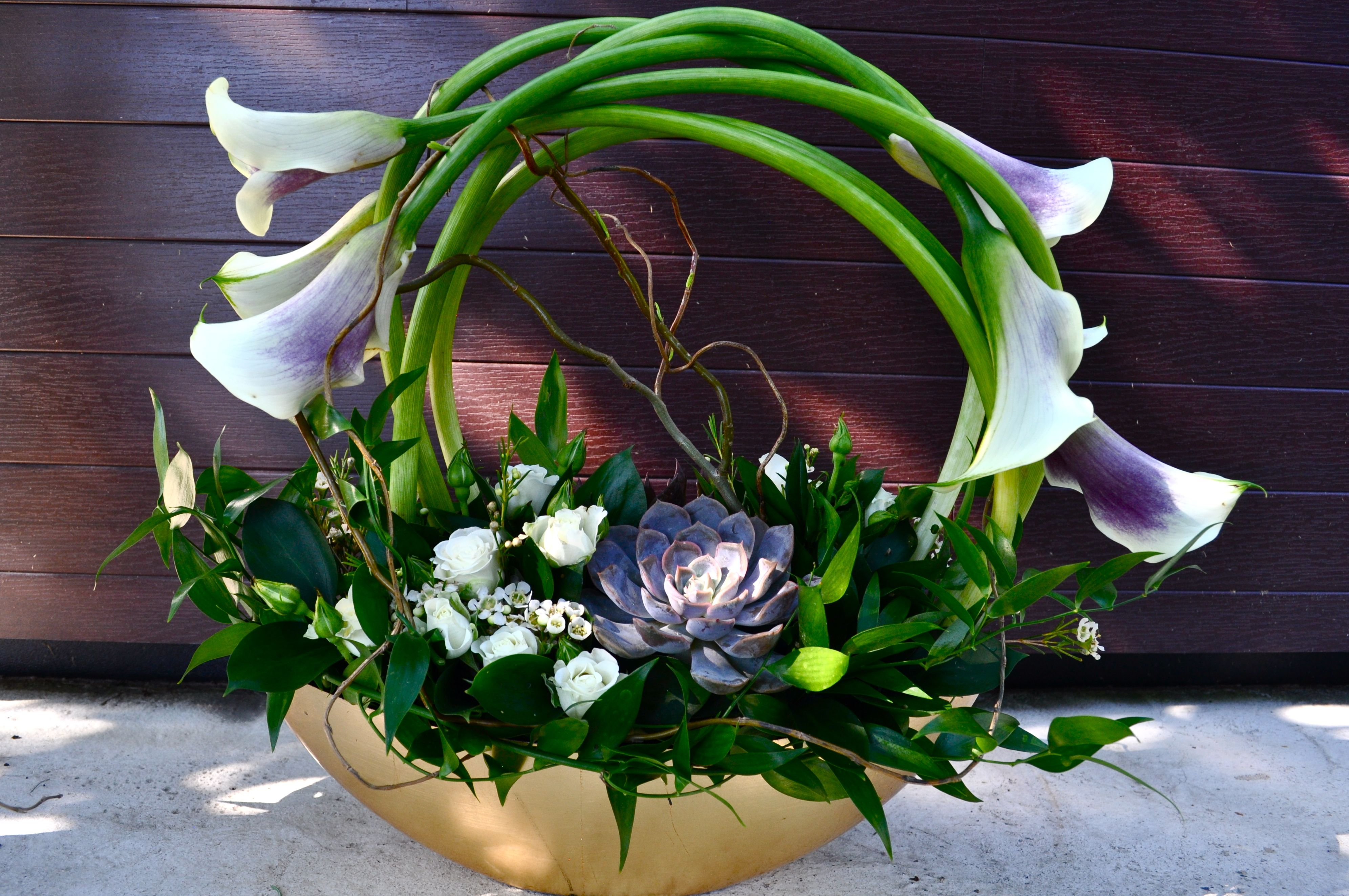 Calla Garden Arrangement Flowers, Flower arrangements