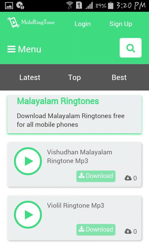 latest hit ringtones free download
