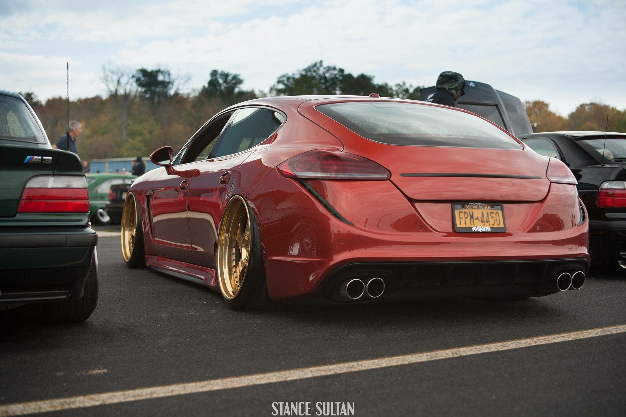 Porsche Panamera Slammed Camber Stance Bagged Modified