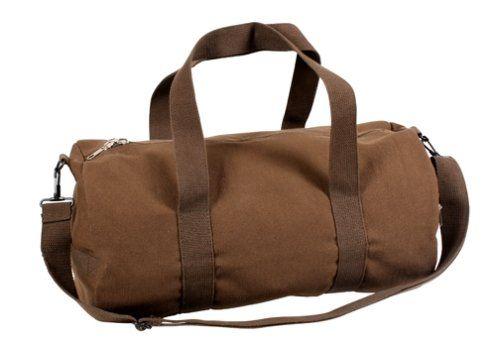 Earth Brown 19 Vintage Canvas Shoulder Bag Heavy Weight Cotton Canvas. Adjustable Shoulder Strap. Zipper End Pocket. 19 by 19.  #Rothco #Apparel
