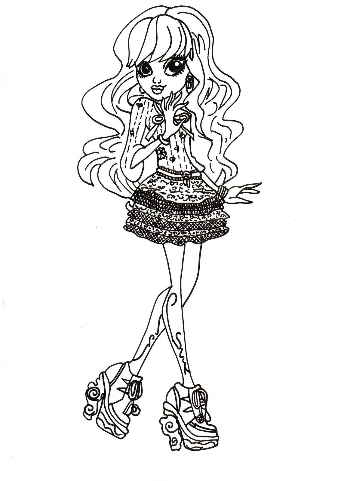 Free Printable Monster High Coloring Pages For Kids Monster Coloring Pages Cartoon Coloring Pages Dragon Coloring Page