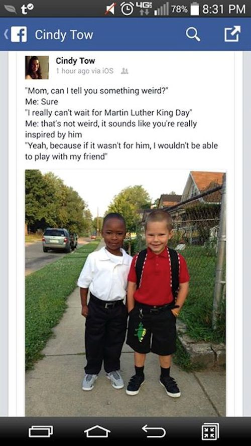 Six-Year-Old's Moving Tribute For Martin Luther King, Jr. Goes Viral