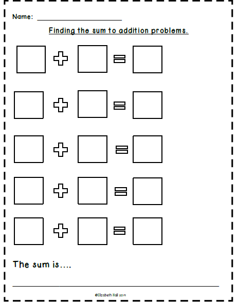 Addition Boot Camp Kindergarten Subtraction Worksheets Math Template Addition And Subtraction Worksheets
