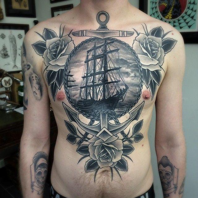 95 Beste Piratenschiff Tattoo Designs Bedeutungen Masters Of The Seas 2018 Tattoo Ideen In 2020 Stomach Tattoos Cool Chest Tattoos Chest Piece Tattoos