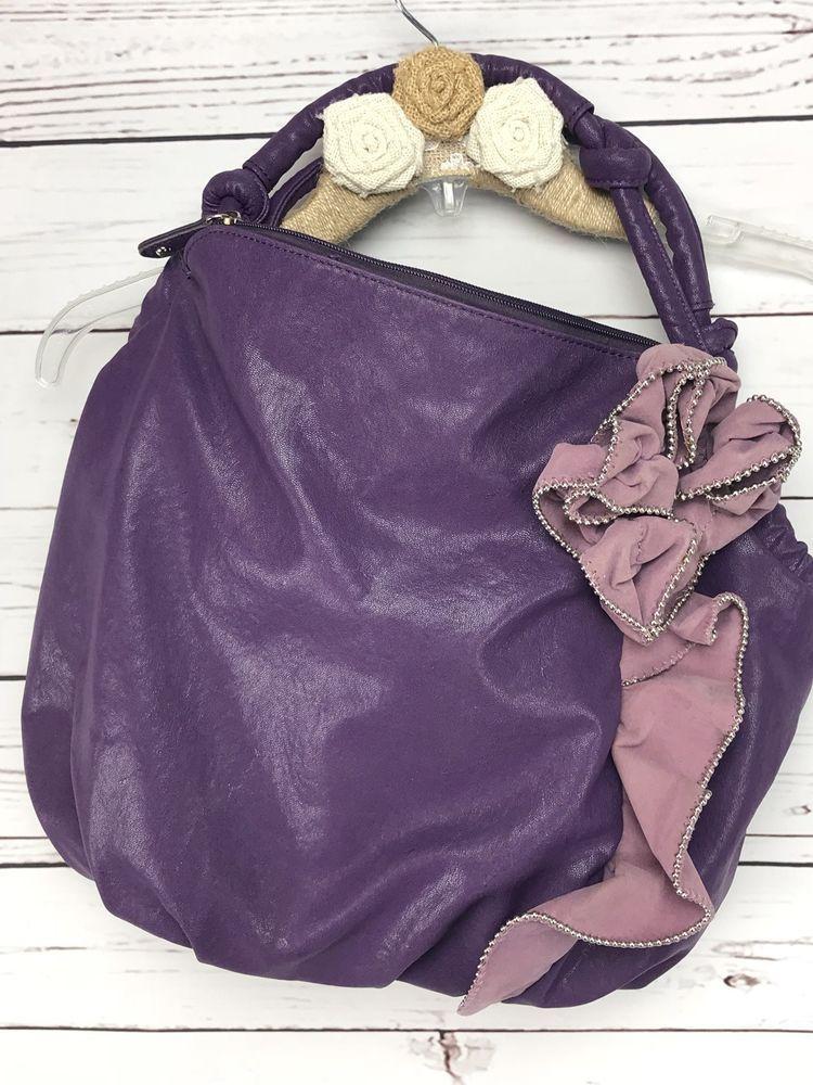 Hananel Purse Purple Shoulder Bag   Clothing, Shoes   Accessories, Women s  Handbags   Bags, Handbags   Purses   eBay! 7d733ce0bb