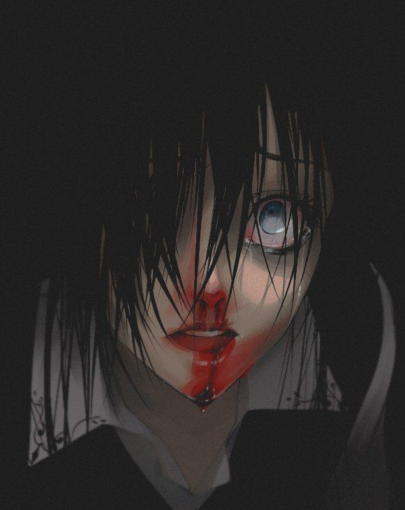 Tags Anime Nosebleed Vest Semi Realism One Eye Showing