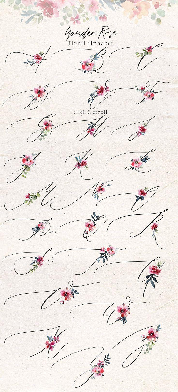 Photo of Kit floral aquarelle Rose de jardin par whiteheartdesign sur Creative Market – # Aqua… #Tatouages - Carola